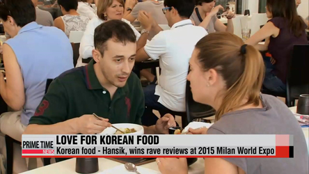 Korean food well-received at 2015 Milan Expo