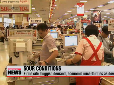 Korean manufacturers' business sentiment falls to six year-low