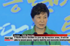President Park calls for dialogue with North Korea, while keeping security posture