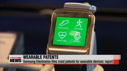 Samsung files most patents for wearable devices