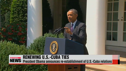 U.S. announces re-establishment of U.S.-Cuba relations