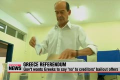 Greek citizens vote in historic referendum