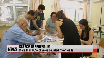 Greek 'No' vote rises to 61% after almost all votes counted