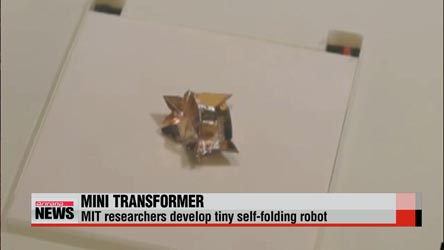 MIT researchers develop tiny self-folding robot that completes tasks