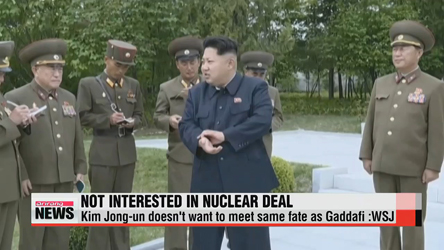 N. Korean leader doesn't want to end up like Gaddafi: WSJ