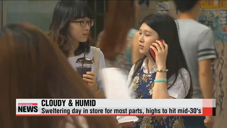Sweltering day for most parts of Korea, heat wave alerts in effect