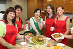Russian students make Korean food