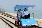 Beach rail biking