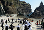 Traditional dance on Dokdo
