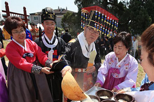 Re-enactment of Joseon ritual at Seoul altar