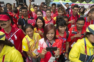 Nepalese Universiade athletes in Gwangju