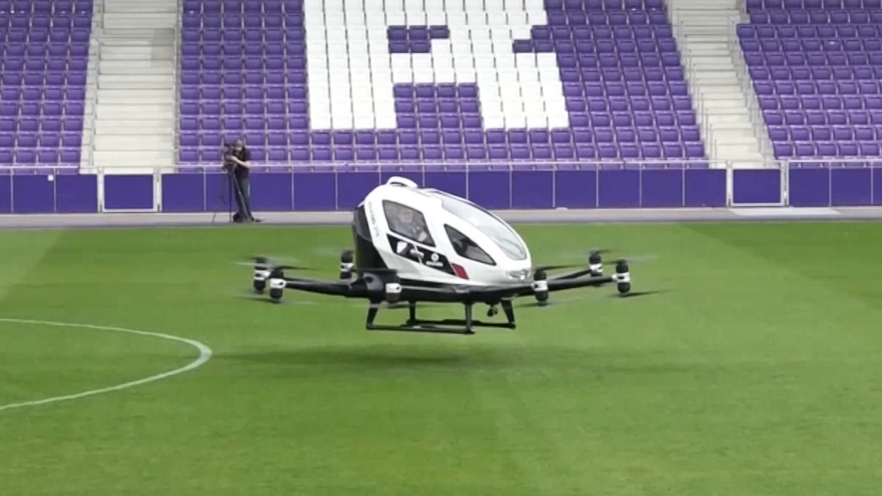 45-5 Pilot-Less Air Taxi Takes Off in Vienna